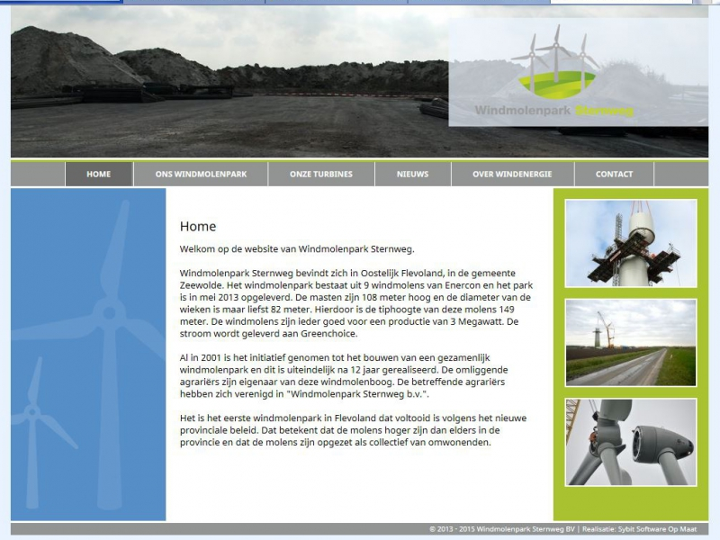Homepage Windmolenpark