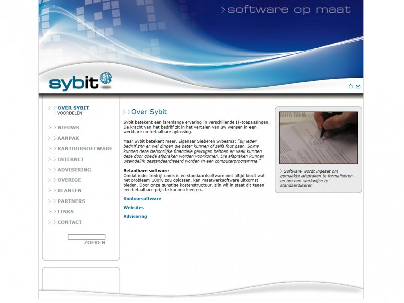 Website Sybit.nl van 2008-2014